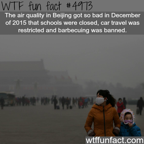 The Air Quality In Beijing - WTF fun facts