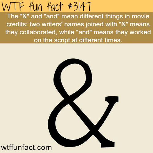 """The """"&"""" and """"and"""" meaning-WTF fun facts"""