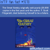 the author of the great gatsby wtf fun facts