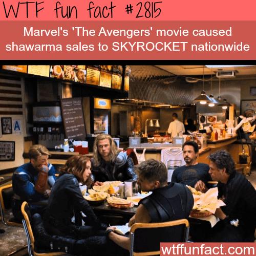 The avengers shawarma scene -WTF fun facts