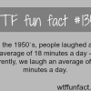 the average time people laugh