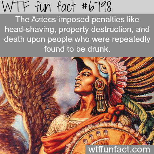 The Aztecs punishment for being drunk - WTF fun fact