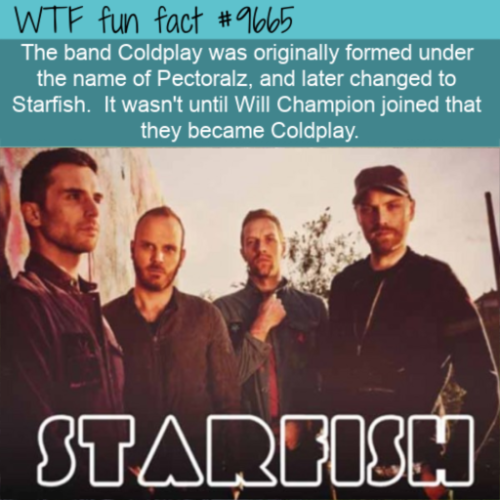The band Coldplay was originally formed under the name of Pectoralz