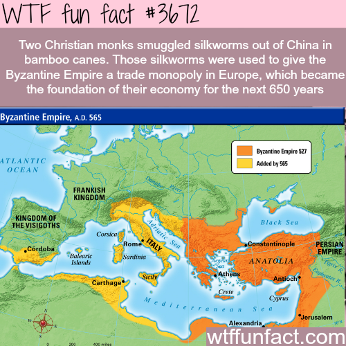 The basis of the Byzantine Empire economy -  WTF fun facts