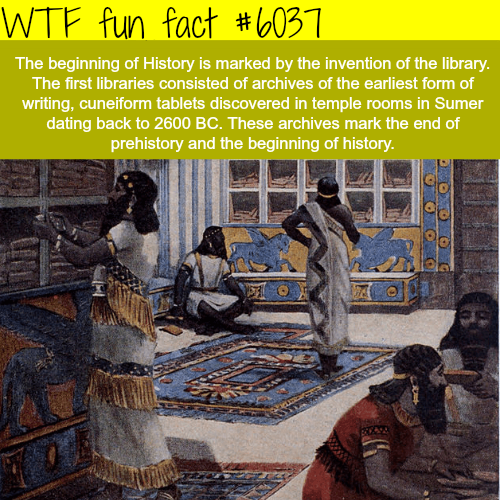 The beginning of history - WTF fun facts