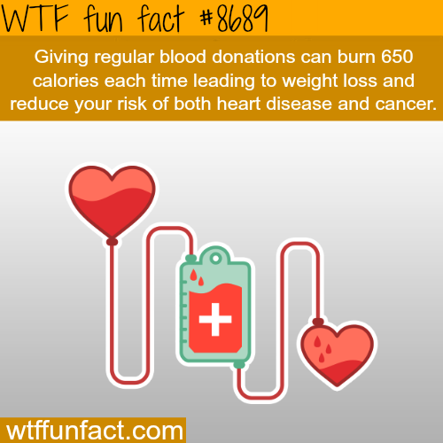 The benefit of donating blood - WTF fun facts