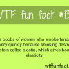 the boobs of women who smoke