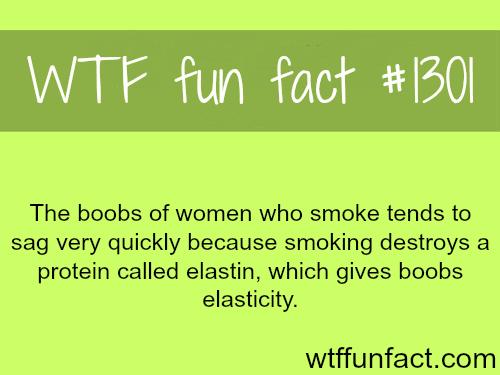 smoke effect on women's breasts