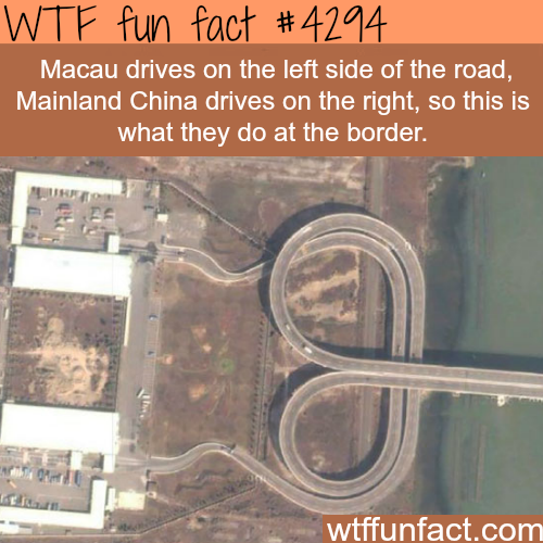 The border between Macau and Mainland China -  WTF fun facts