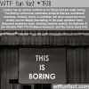 the boring conference wtf fun fact