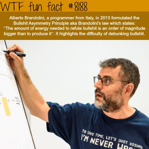 The Bullshit Asymmetry Principle - WTF fun fact