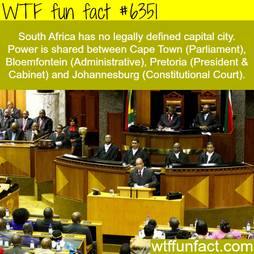 The capital of South Africa - WTF fun facts