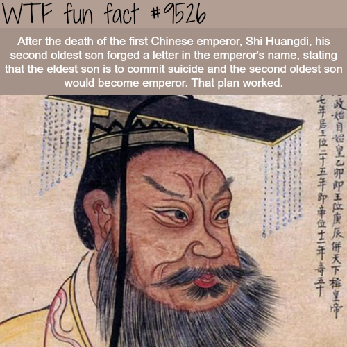 The Chinese Emperor Shi Huangdi - WTF fun fact