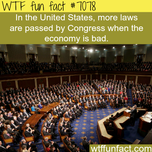 The Congress passes more laws when economy is bad - WTF fun facts