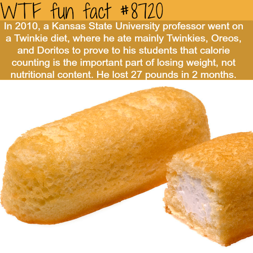 The correct way to lose weight - WTF fun facts