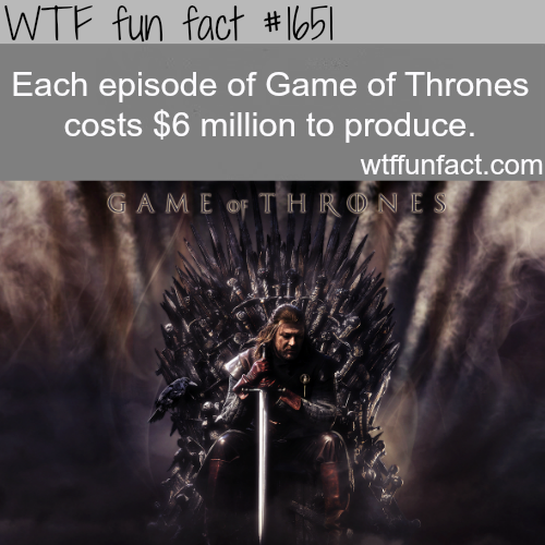 The cost of producing Game of Thrones - WTF fun facts