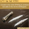 the cost of producing one kg of cocaine