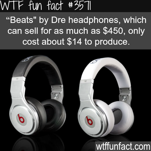 """The cost to produce """"Beats"""" by Dre - WTF fun facts"""