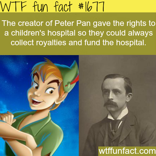 The creator of peter pan - WTF fun facts