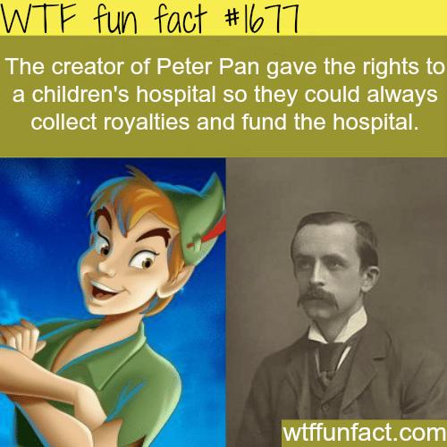 The creator of peter pan -WTF fun facts