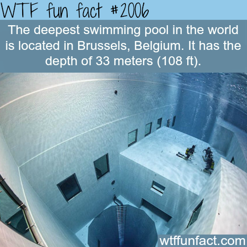 The deepest swimming pool in the world - WTF fun facts