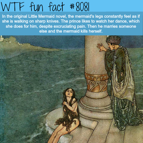 The depressing story of the original Little Mermaid - WTF fun facts