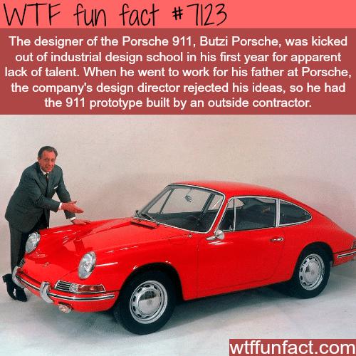 The designer of the Porsche 911 - WTF fun facts