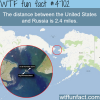the distance between the us and russia wtf fun