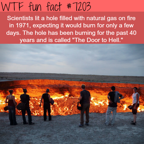 The door to hell - WTF Fun Fact