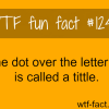 the dot over the letter i is called a tittle