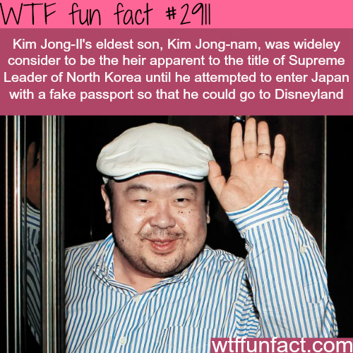 The eldest son of  Kim Jong Il -  WTF fun facts