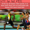 the fastest man alive wtf fun fact