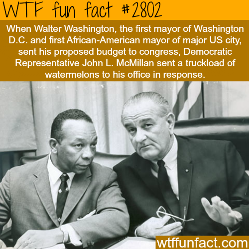 The first African American Mayor got this -WTF fun facts