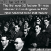 the first ever 3d movie