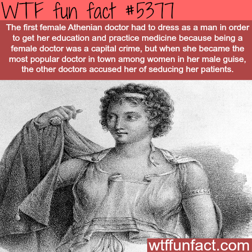 The first female Athenian doctor:Agnodice - WTF fun facts