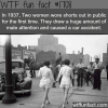 the first girls to wear shorts in public wtf fun