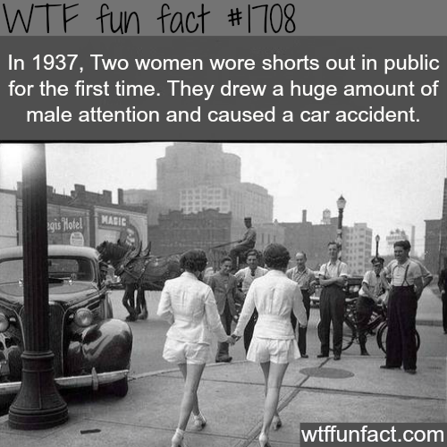 The first girls to wear shorts in public - WTF fun facts