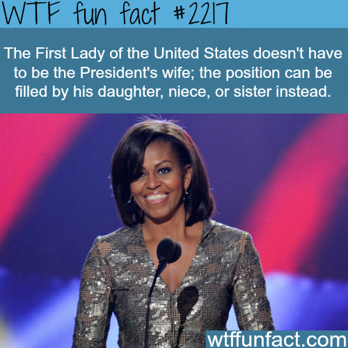 The first lady of the United States -WTF fun facts