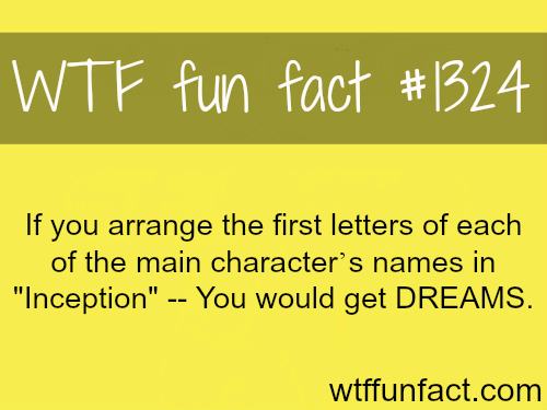 Inception main character's name - DREAMS