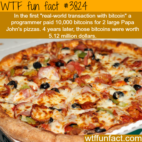 The first real world Bitcoin transaction - WTF fun facts