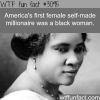 the first self made female millionaire wtf fun