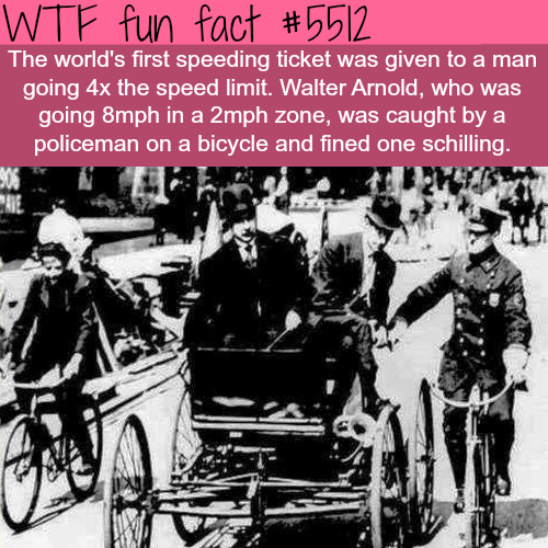 The first speeding ticket in history - WTF fun facts