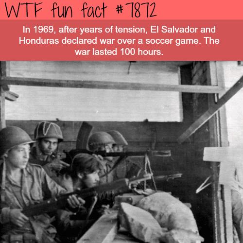 The Football War - WTF fun facts