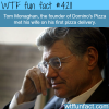the founder of dominos pizza met his wife on a pizza