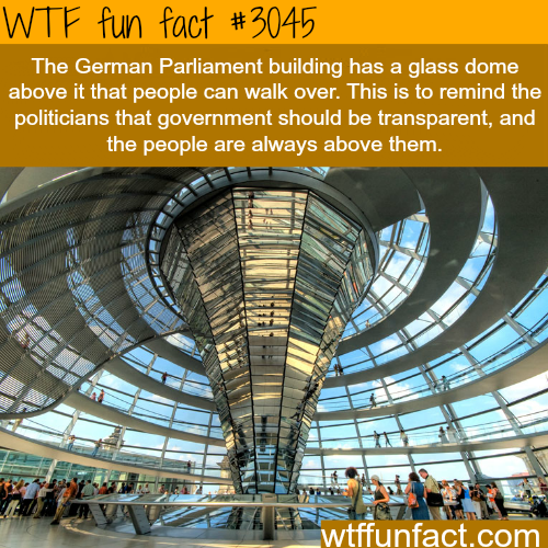 The German Parliament building -  WTF fun facts