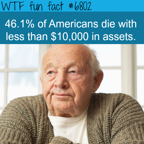 The goal is to reach $0 before you die - WTF fun fact