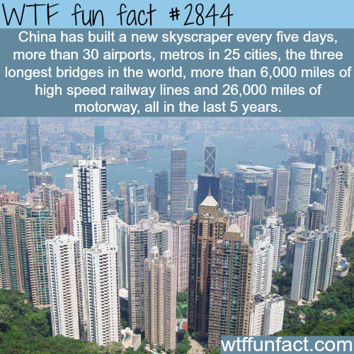 The growth of China is unbeliveable -WTF fun facts