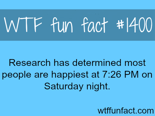people's happiest time - research found