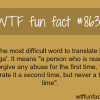 the hardest word to translate wtf fun facts
