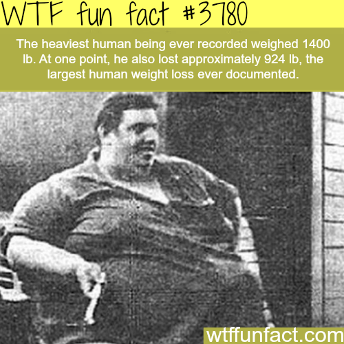 The heaviest human being ever recorded - WTF fun facts
